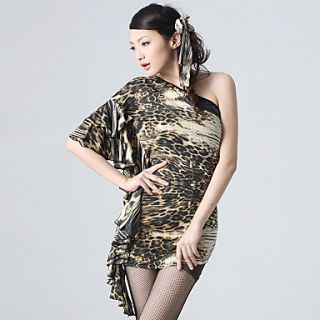 Dancewear Viscose Leopard Printed Latin Dance Dress for Ladies(More Colors)