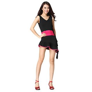 Dancewear Viscose Practice Latin Dance Dress For Ladies More Colors