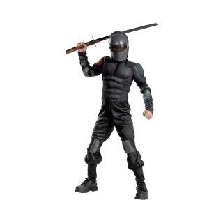 G.I. Joe Retaliation Snake Eyes Classic Muscle Child Costume, Black, Boys