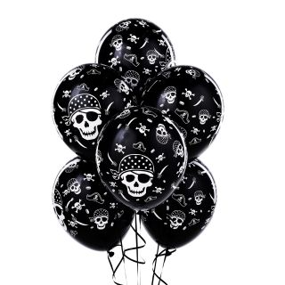 Pirate Skull and Crossbones Latex Balloons