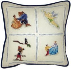 Disney Dreams Collection Pillow Counted Cross Stitch Kit 14x14 18 Count