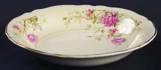Edwin Knowles Virginia Coupe Soup Bowl, Fine China Dinnerware   Pink/Yellow Flow