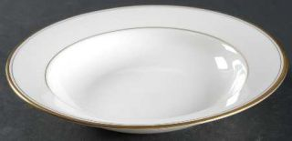 Gorham Elegance Gold Rim Soup Bowl, Fine China Dinnerware   Gold Trim & Pin Line