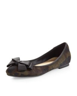 Abow Camouflage Calf Hair Ballet Flat