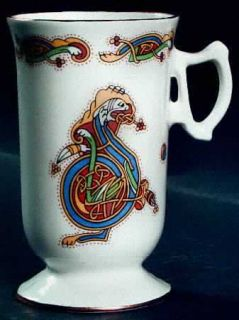 Royal Tara Book Of Kells Irish Coffee Mug, Fine China Dinnerware   Multicolor Ce