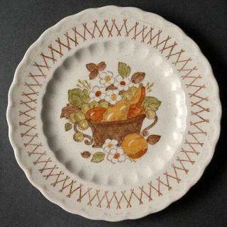 Metlox   Poppytrail   Vernon Fruit Basket Salad Plate, Fine China Dinnerware   B