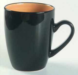 Thomson Kata Mug, Fine China Dinnerware   Black Out,Yellow In,Coupe,Smooth,No Tr
