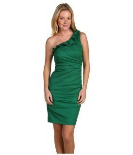 Badgley Mischka Stretch Ruched Dress Womens Dress (Green)