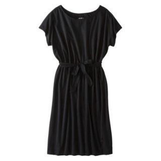 Merona Womens Knit Belted Dress   Black   L