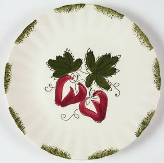 Blue Ridge Southern Pottery Strawberry Sundae Luncheon Plate, Fine China Dinnerw
