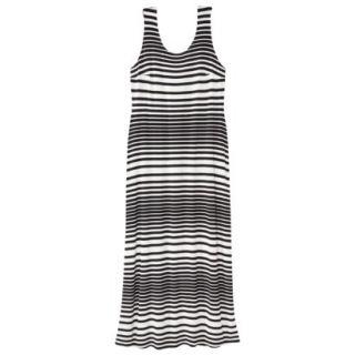 Merona Womens Plus Size Sleeveless V Neck Maxi Dress   Black/Cream 4